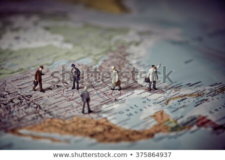 Miniature business people on top of US map. Business concept. Co Stock photo © Kirill_M