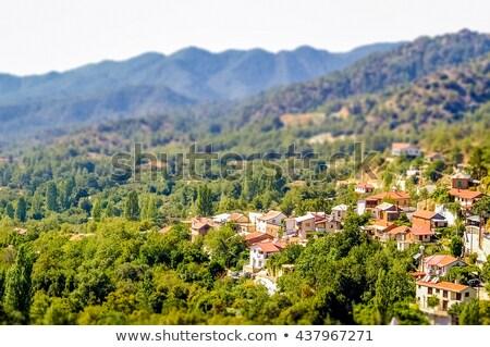 High angle view at Foini village. Limassol District, Cyprus Stock photo © Kirill_M