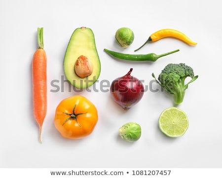 различный · свежие · вкусный · овощей · изолированный · белый - Сток-фото © kayros