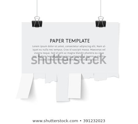 Scheur af papier muur achtergrond Stockfoto © m_pavlov