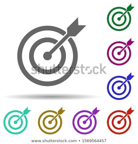Сток-фото: целевой · Кнопки · иллюстрация · белый · фон · красный