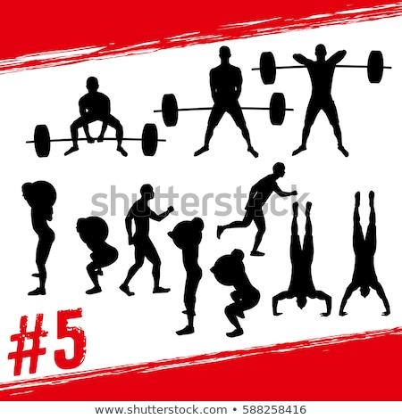 Hoogspringen icon veel ontwerpen illustratie sport Stockfoto © bluering