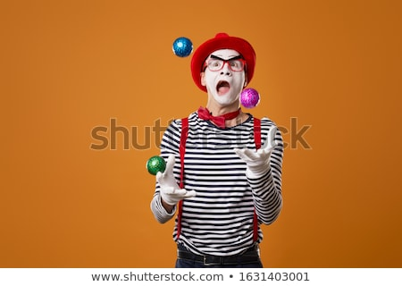 A coloured sketch of a clown juggling Stock photo © bluering