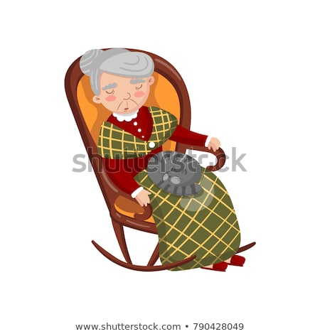 Abuelos sesión silla ilustración hombre abuela Foto stock © adrenalina