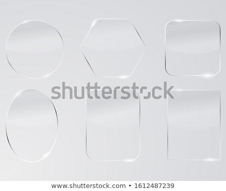 Absztrakt téglalap gomb sablon kitűző fém textúra Stock fotó © molaruso
