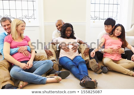 Casal formigas ilustração família sorrir grama Foto stock © adrenalina