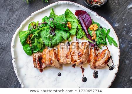 grillezett · kacsa · mell · madár · vacsora · ebéd - stock fotó © m-studio