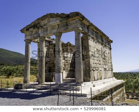sütun · ören · eski · Yunan · şehir · seyahat - stok fotoğraf © ankarb