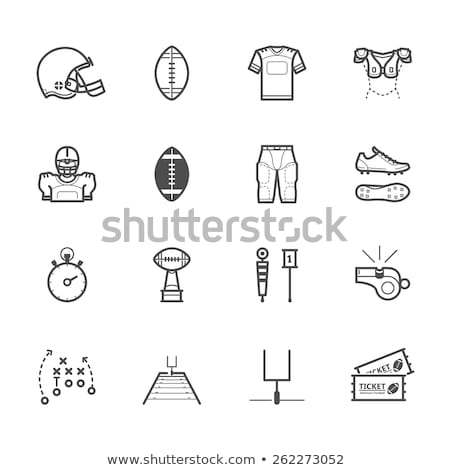 vector set of icons for american football stock photo © m_pavlov