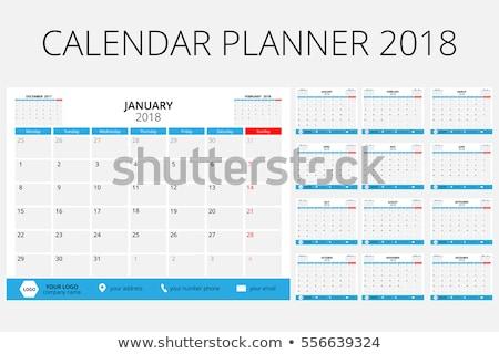 Icon calendar 2018 year Stock photo © Oakozhan