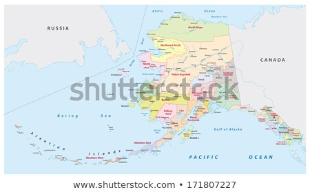 map of alaska with white background stock photo © tang90246