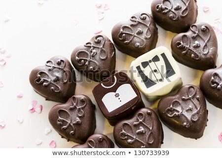 square-shaped wedding cake Stock photo © tekso