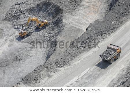 Buldózer dolgozik kő építkezés munka gép Stock fotó © njnightsky