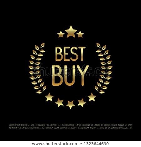 gold star buy winner laurel wreath medal stock photo © krisdog