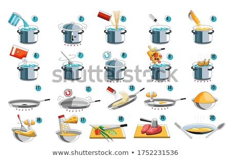 Cooking Process Steps ストックフォト © studioworkstock