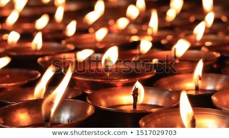 palenie · świece · świątyni · ognia · kościoła - zdjęcia stock © bbbar