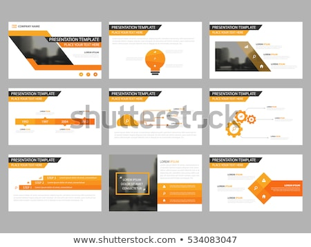 3D · business · cubo · arancione · bianco · isolato - foto d'archivio © monarx3d