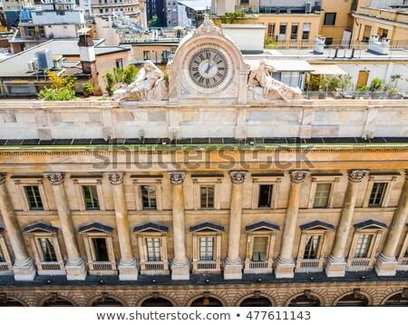 старые часы Милан фото Blue Sky Сток-фото © Artlover