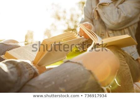 фото два случайный носить чтение Сток-фото © deandrobot