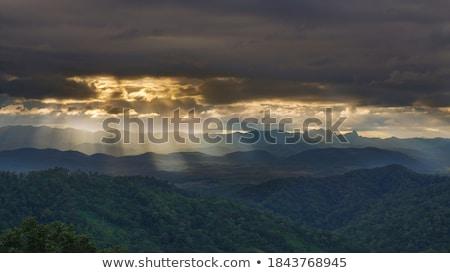 Sky illuminated by sunlight Stock photo © serg64