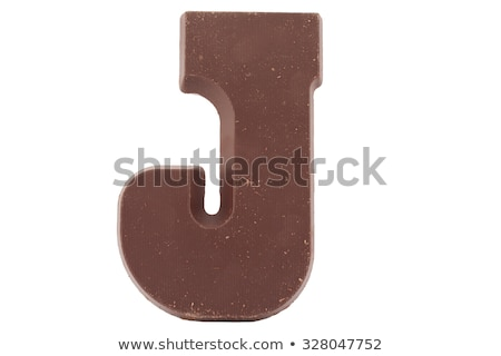 Letter J Chocolate font. sweetness alphabet. Liquid lettering. S Stock photo © MaryValery