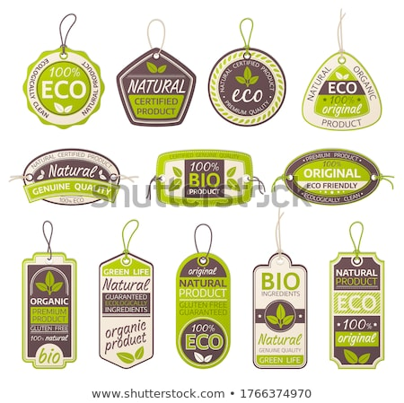 eco label isolated stock photo © adamson