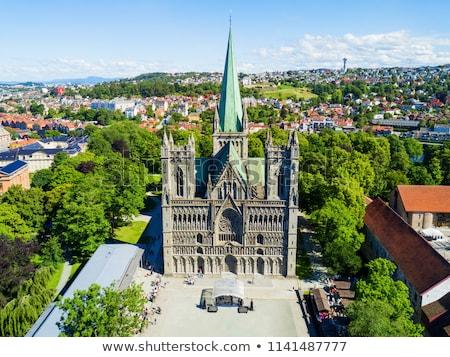 古い 大聖堂 ノルウェー 2013 人 ヨーロッパ ストックフォト © kyolshin