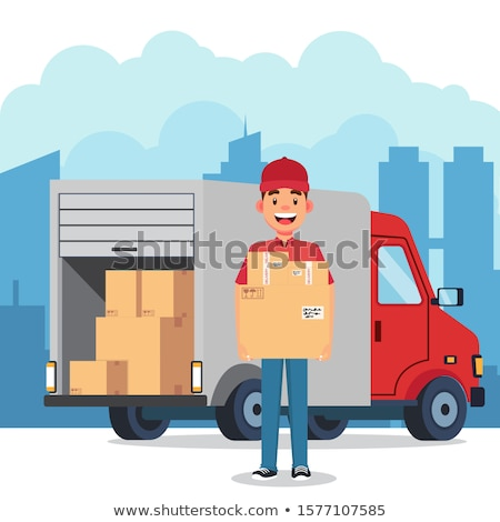 A smiling courier Stock photo © IS2