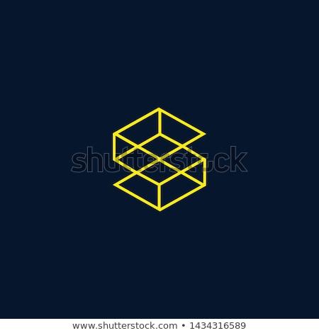 Bitcoin moeda mineração logotipo assinar vetor Foto stock © TRIKONA