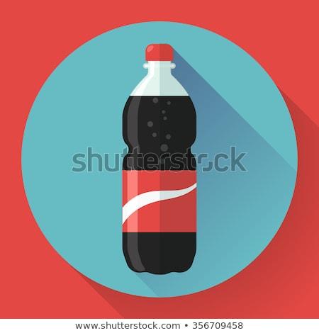 соды бутылку красный вектора икона воды Сток-фото © MarySan