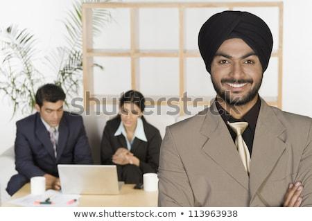 Reunião de negócios indiano homens empresários contrato conclusão Foto stock © studioworkstock