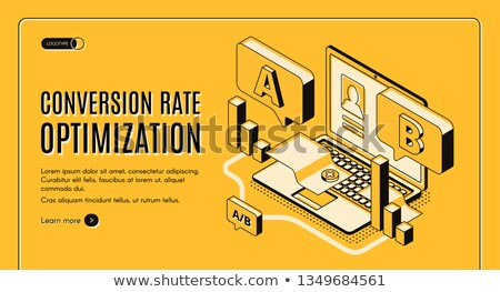 Conversion Marketing Technology Concept on Laptop Screen. 3d Stock photo © tashatuvango