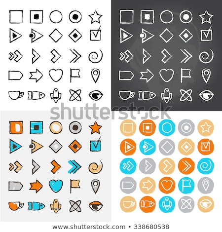 bullet icon in different style stock photo © sidmay