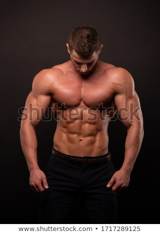 Homme corps s'adapter muscle flex fitness Photo stock © lenm