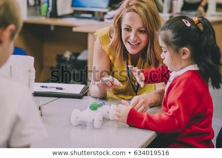 öğretmen kadın eğitim portre sınıf Stok fotoğraf © monkey_business