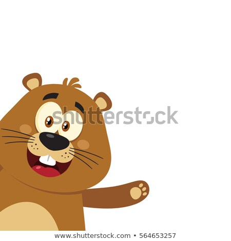 Cute mascotte carattere angolo design Foto d'archivio © hittoon