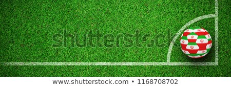 Football in iran colours against close up view of astro turf Stock photo © wavebreak_media