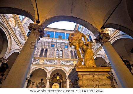 Palazzo Medici famous landmark of Florence atrium view Stock photo © xbrchx