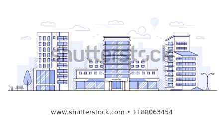 Medical center - modern line design style banner Stock photo © Decorwithme