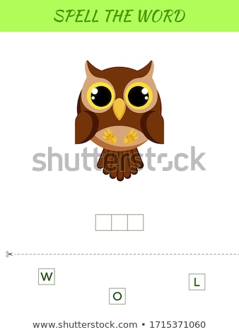 Spelling word scramble game with word owl Stock photo © colematt