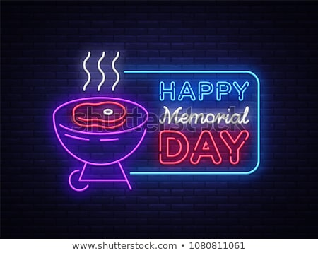 Happy Memorial Day Barbecue Flyer Stock photo © Anna_leni