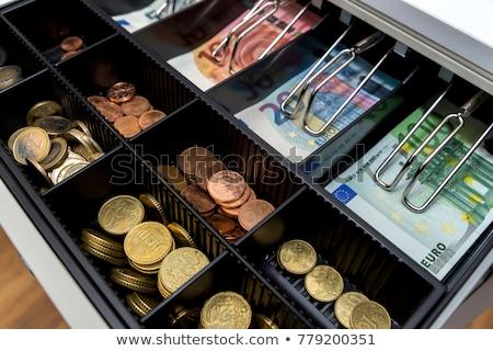 Efectivo cuadro euros billetes monedas negocios Foto stock © Zerbor