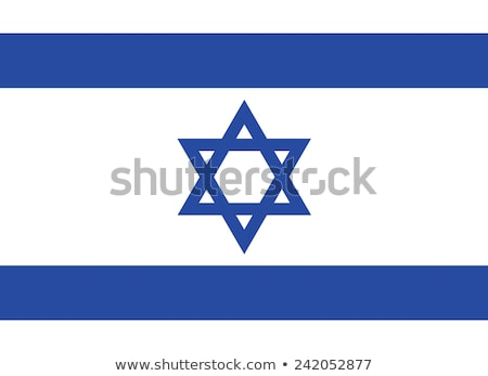 Israel flag, vector illustration Stock photo © butenkow