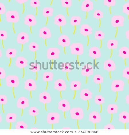naadloos · patroon · poppy · bloemen · bloem - stockfoto © yopixart
