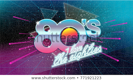 driehoek · jaren · tachtig · 80s · 1980 · pop · art · retro - stockfoto © studiostoks