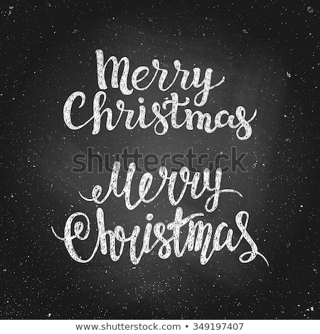 merry christmas grunge texture typography quote stock photo © cienpies