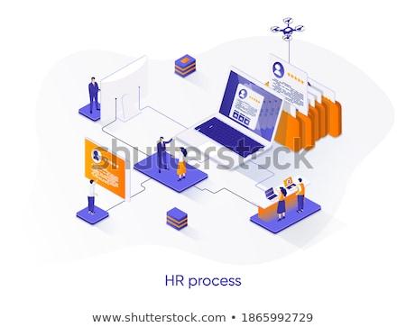empresário · escolha · eps10 · vetor · formato · computador - foto stock © decorwithme