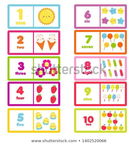 Count number math to ten Stock photo © colematt