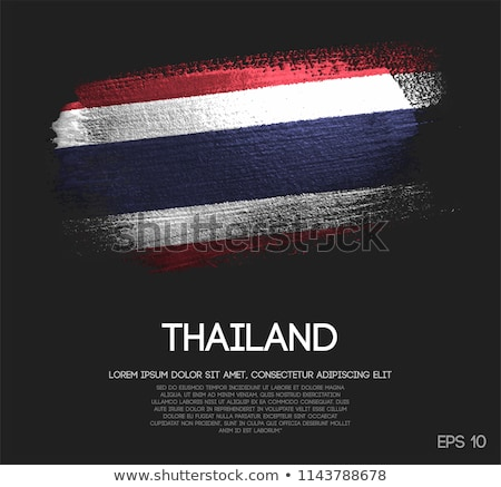 Flag of Thailand on metalic background Stock photo © colematt