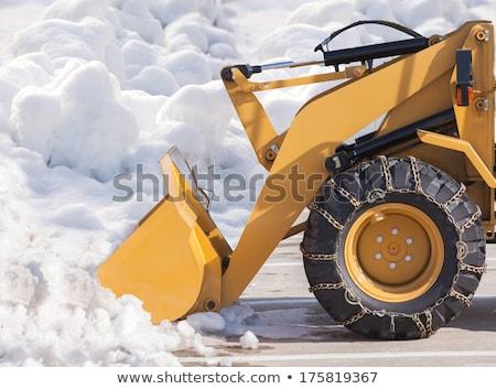трактора · очистки · дороги · снега · зима - Сток-фото © lopolo
